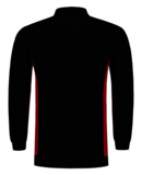 Polosweater Tricorp Bicolor borstzak Black-Red_