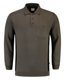 Polosweater Tricorp Bicolor borstzak Grey-Black_