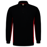 Polosweater Tricorp Bicolor borstzak Navy-Red_