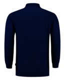 Polosweater Tricorp Bicolor borstzak Royalblue-Navy_