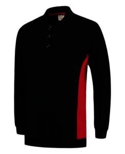 Polosweater Tricorp Bicolor borstzak Black-Red