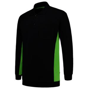 Polosweater Tricorp Bicolor borstzak Navy-Lime