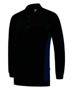 Polosweater Tricorp Bicolor borstzak Navy-Royalblue
