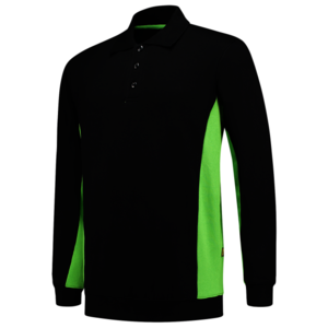 Polosweater Tricorp Bicolor Black-Lime