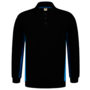 Polosweater Tricorp Bicolor borstzak Black-Turqouise