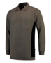 Polosweater Tricorp Bicolor borstzak Grey-Black