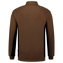 Polosweater Tricorp Bicolor borstzak Khaki-Black