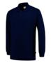 Polosweater Tricorp Bicolor borstzak Royalblue-Navy