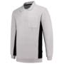 Polosweater Tricorp Bicolor borstzak White-D.Grey