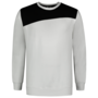 Sweater Tricorp Bicolor Naden White-D.Grey